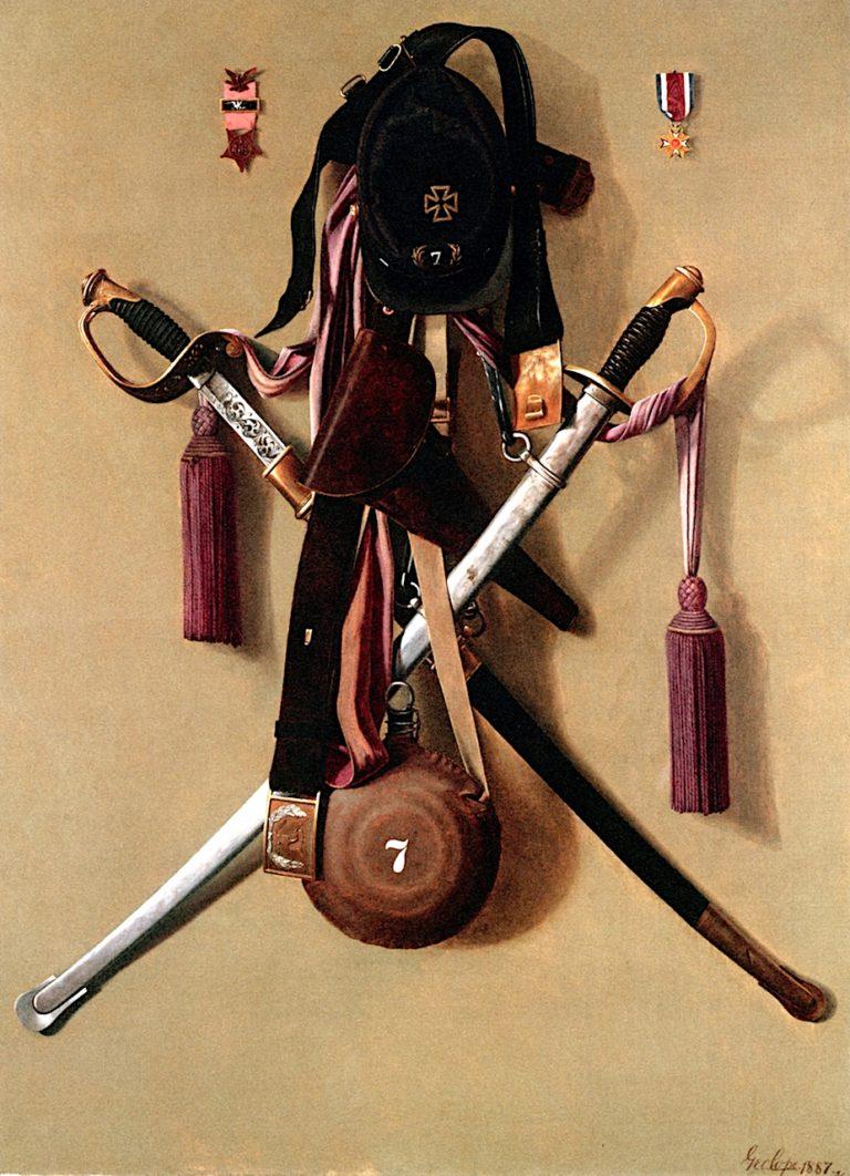 Civil War Regalia of Major Levi Green McCauley   George Cope   oil painting