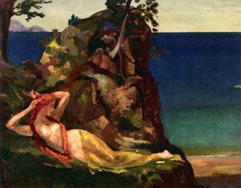 Esmeralda | Arthur B. Davies | oil painting
