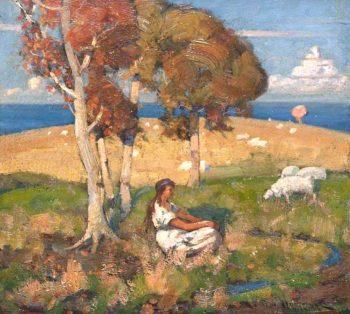 Shepherdess | John Reid Murray | oil painting