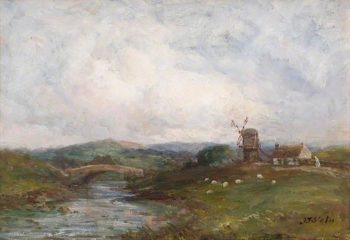 Landscape with Windmill | John Falconer Slater | oil painting
