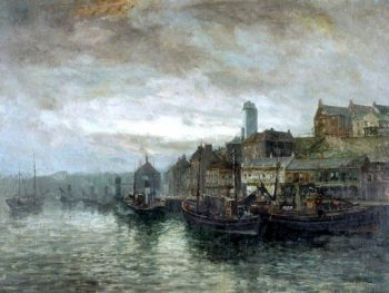 Quayside at North Shields | John Falconer Slater | oil painting