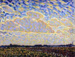 Landscape near Montfoort | Leo Gestel | oil painting