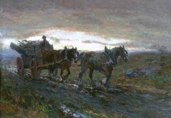 The Wood Cart | John Falconer Slater | oil painting