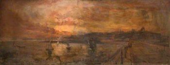 Tynemouth Pier | John Falconer Slater | oil painting
