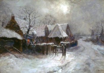 Winter Scene | John Falconer Slater | oil painting