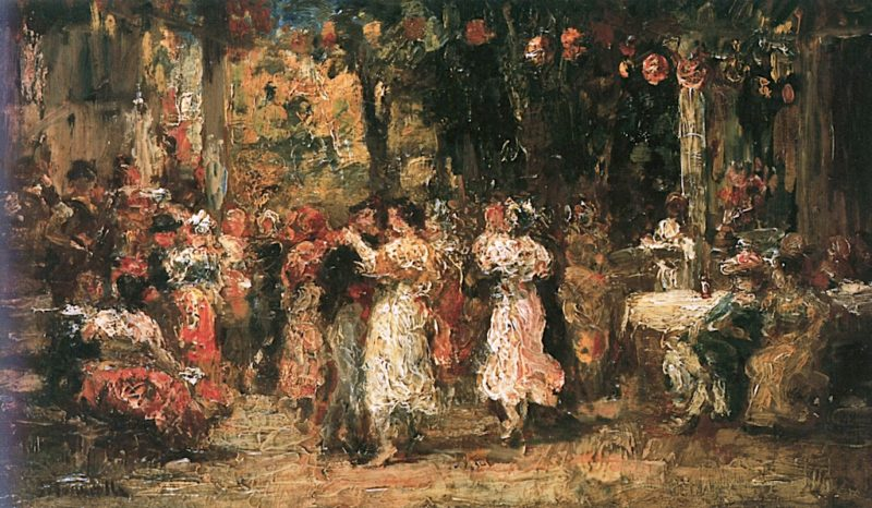At the Ball   Adolphe-Joseph-Thomas Monticelli   oil painting