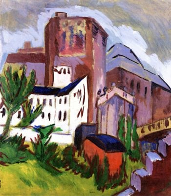 City Tower | Ernst Ludwig Kirchner | oil painting