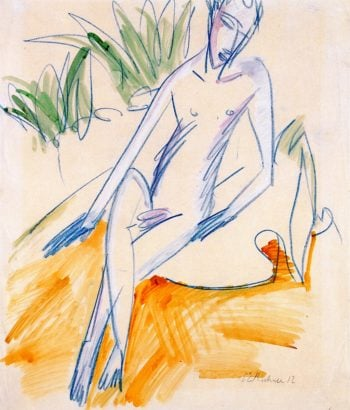 Seated Bather | Ernst Ludwig Kirchner | oil painting