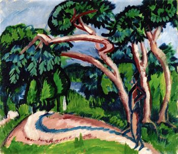 Trees above Sandy Path | Ernst Ludwig Kirchner | oil painting