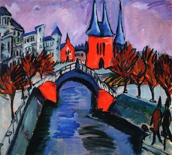 Elisabethufer | Ernst Ludwig Kirchner | oil painting