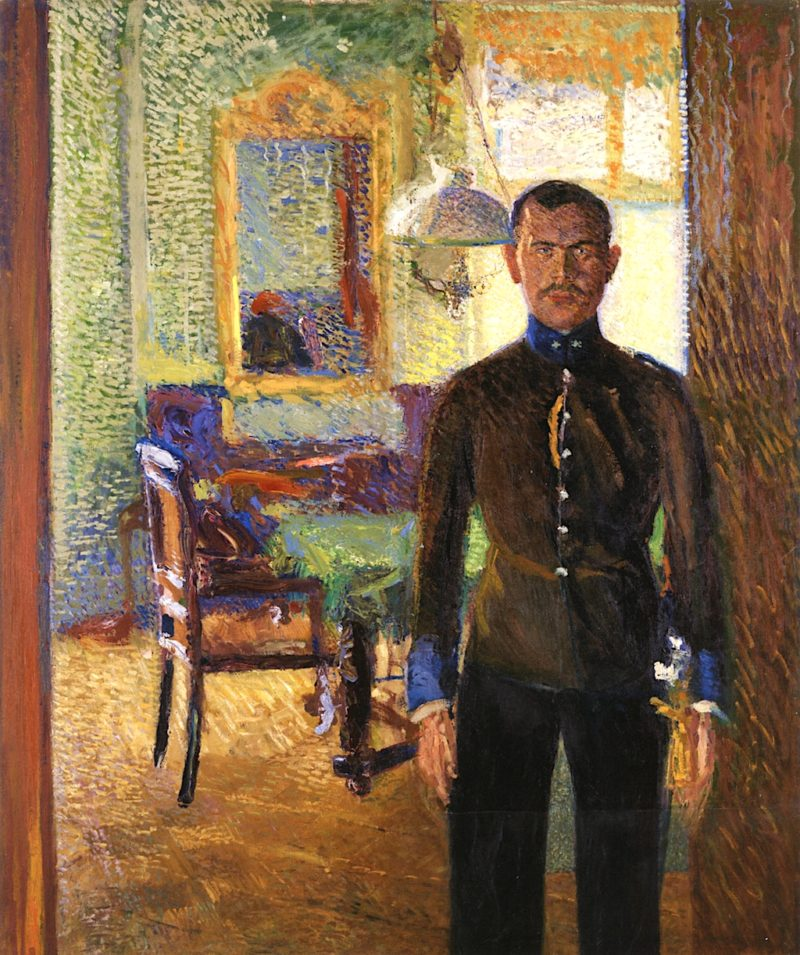 Portrait of Lieutenant Alois Gerstl | Richard Gerstl | oil painting