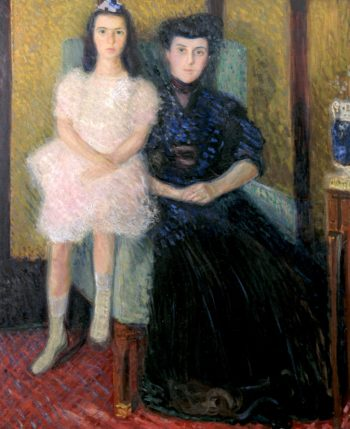 Mother and Daughter   Richard Gerstl   oil painting