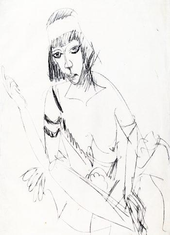 Seated Dancer (Erna) | Ernst Ludwig Kirchner | oil painting