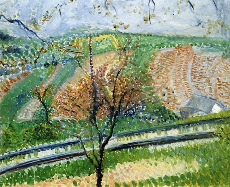 Cogwheel Railway to the Kahlenberg   Richard Gerstl   oil painting