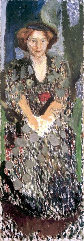 Portrait of Mathilde Schönberg in the Studio | Richard Gerstl | oil painting