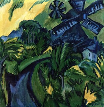 Fehmarn Windmill | Ernst Ludwig Kirchner | oil painting