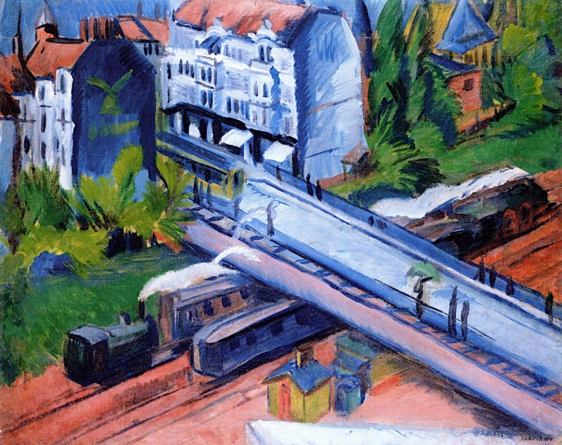 Railway Overpass | Ernst Ludwig Kirchner | oil painting
