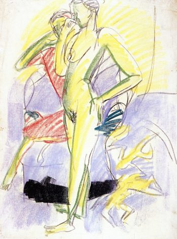 Two Figures in a Room | Ernst Ludwig Kirchner | oil painting