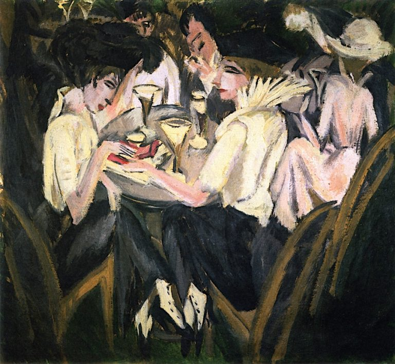 In the Café Garden | Ernst Ludwig Kirchner | oil painting