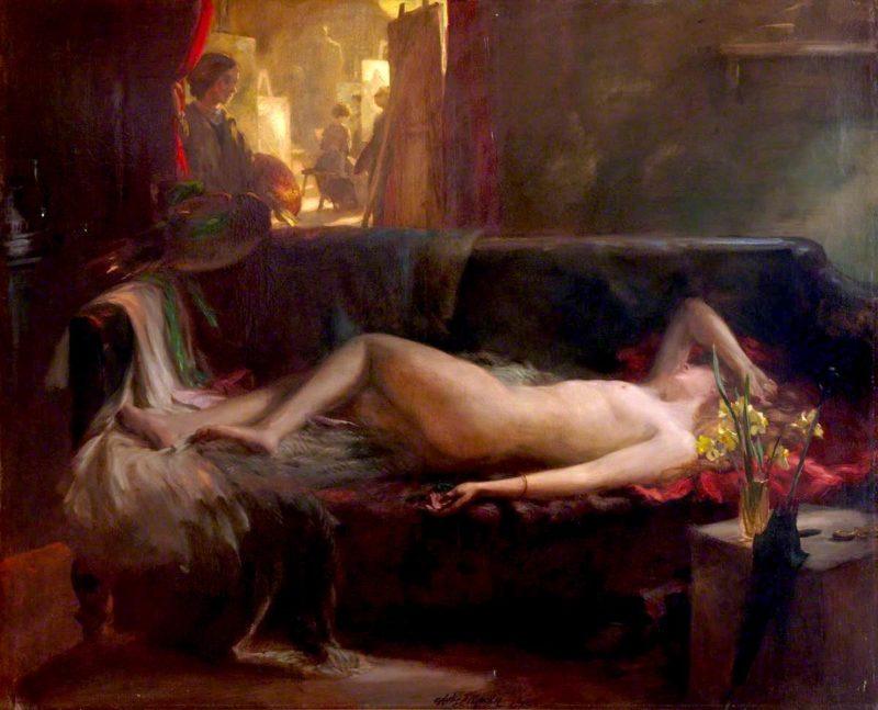 Artis ancilla   Charles Hodge Mackie   oil painting