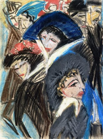 Women in the Street | Ernst Ludwig Kirchner | oil painting