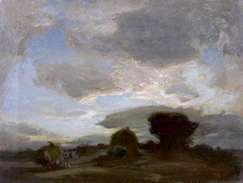 Carting Hay | Charles Hodge Mackie | oil painting