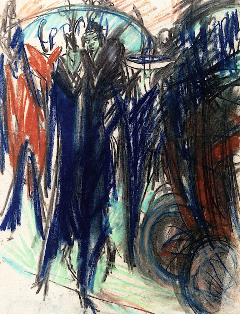 Cocottes on the Street   Ernst Ludwig Kirchner   oil painting