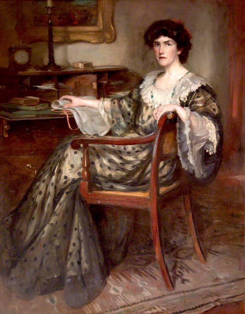 Ella Carmichael Watson   Charles Hodge Mackie   oil painting