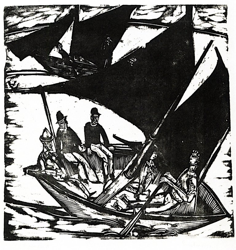 Sailing Boats off Fahmarn | Ernst Ludwig Kirchner | oil painting