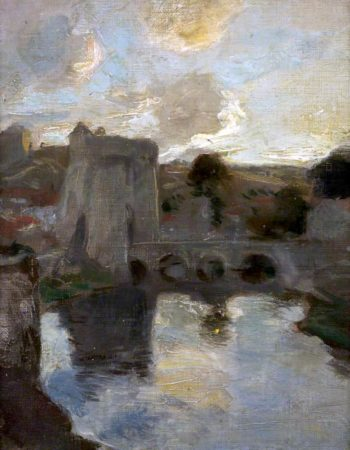 Gateway with a Bridge | Charles Hodge Mackie | oil painting