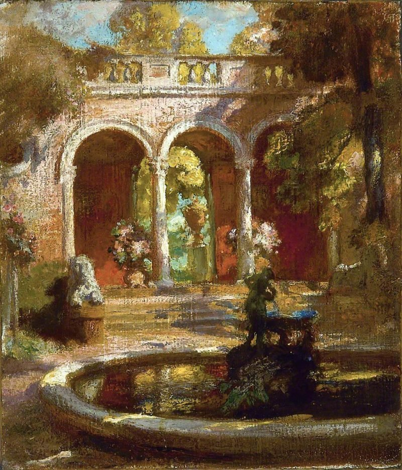 In the Borghese Gardens | Charles Hodge Mackie | oil painting