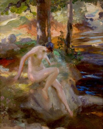 The Bather (study) | Charles Hodge Mackie | oil painting