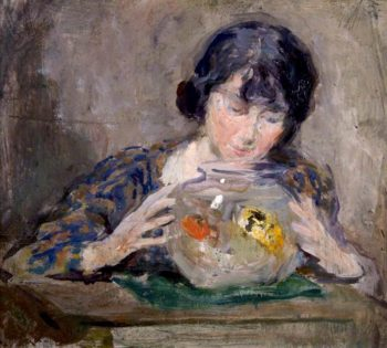 The Goldfish Bowl | Charles Hodge Mackie | oil painting