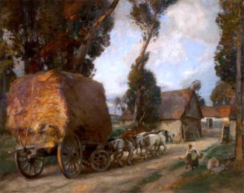 The Hay Cart | Charles Hodge Mackie | oil painting