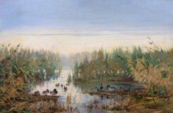 Mallards at Rest | John Sydney Steel | oil painting