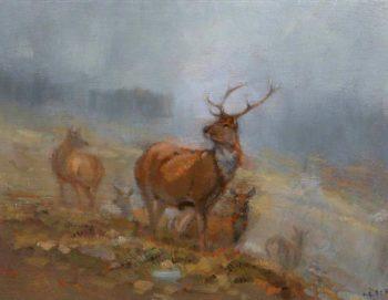 Red Deer | John Sydney Steel | oil painting
