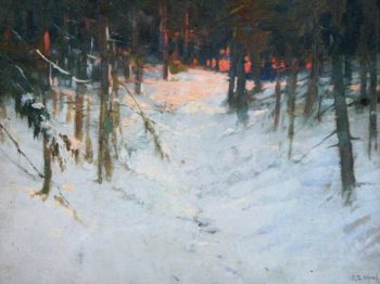 Sunset in the Woods | John Sydney Steel | oil painting