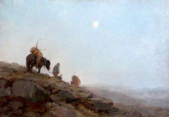 The Hunters Moon | John Sydney Steel | oil painting
