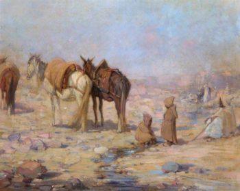 Tunisian Peasants and Their Mounts | John Sydney Steel | oil painting