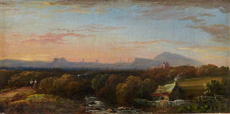 Edinburgh from the South | Arthur Perigal the Younger | oil painting