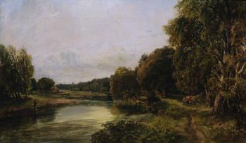 Kirkside – The Deveron | Arthur Perigal the Younger | oil painting