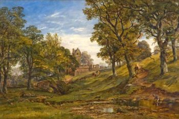 Mains Castle   Arthur Perigal the Younger   oil painting