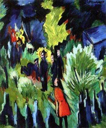 Graefs Garden in Jena | Ernst Ludwig Kirchner | oil painting