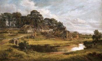 Village of Langshaw | Arthur Perigal the Younger | oil painting