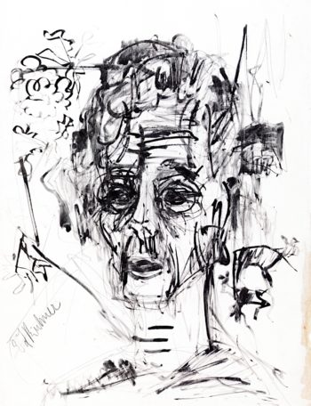 Self - Portrait in Morphine Rush | Ernst Ludwig Kirchner | oil painting