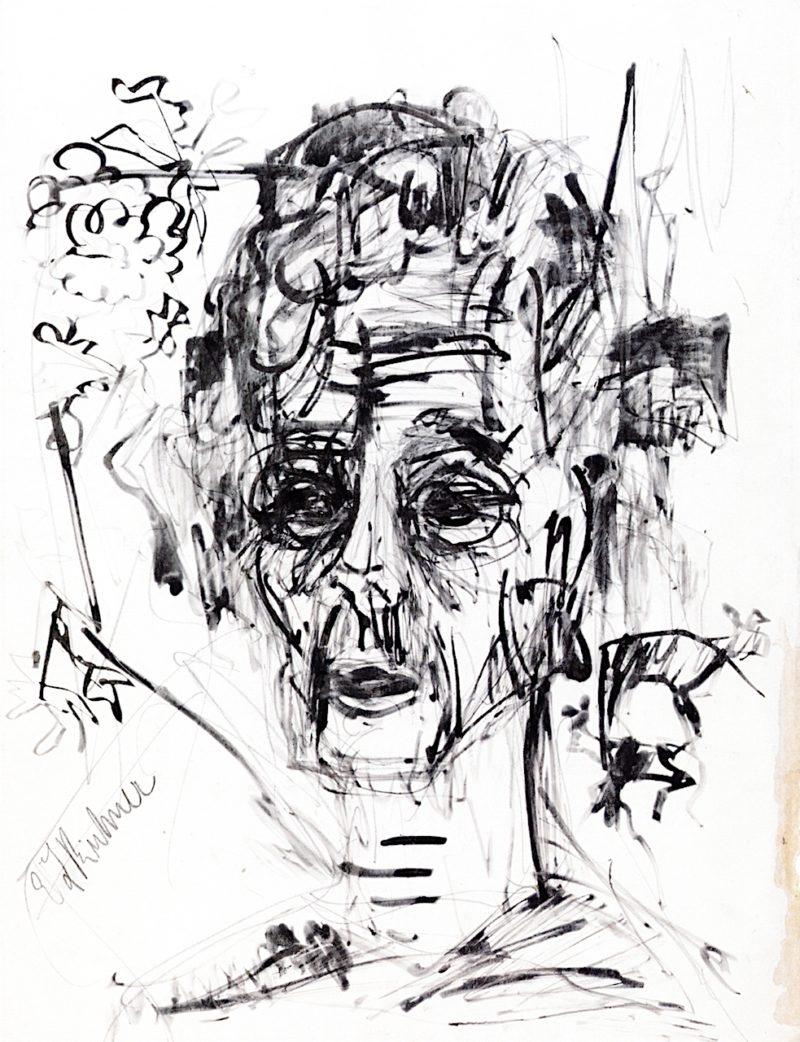 Self - Portrait in Morphine Rush   Ernst Ludwig Kirchner   oil painting