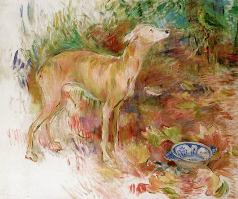 The Greyhound Laerte | Berthe Morisot | oil painting