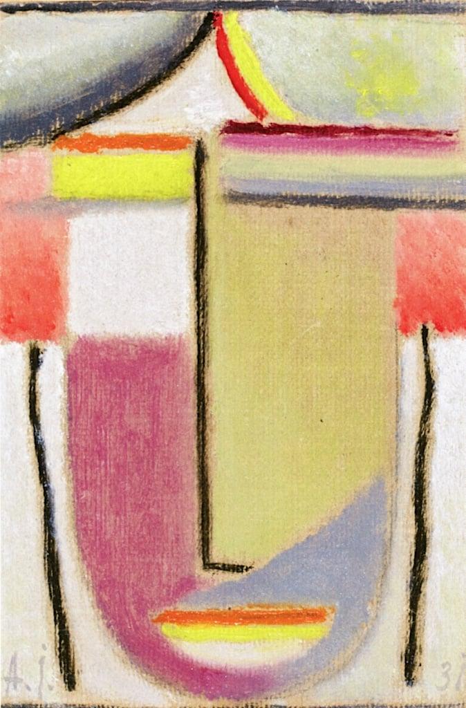 Small Abstract Head | Alexei von Jawlensky | oil painting