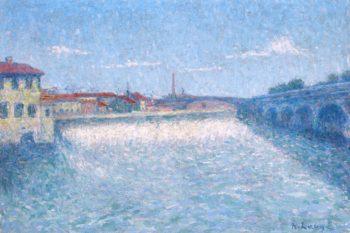 The Pont de Halage de Tounis in Toulouse | Achille Lauge | oil painting