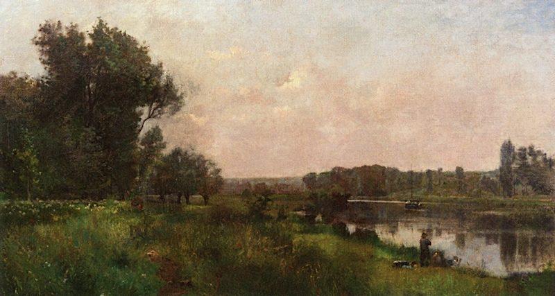 On the Oise   Charles-Francois Daubigny   oil painting
